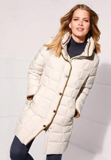 Пуховое стеганное пальто