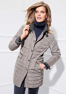 Стеганная длинная куртка